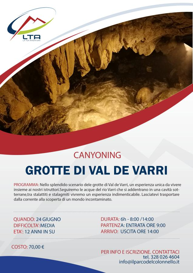 Canyoning Grotte Val de Varri 24/06/2018